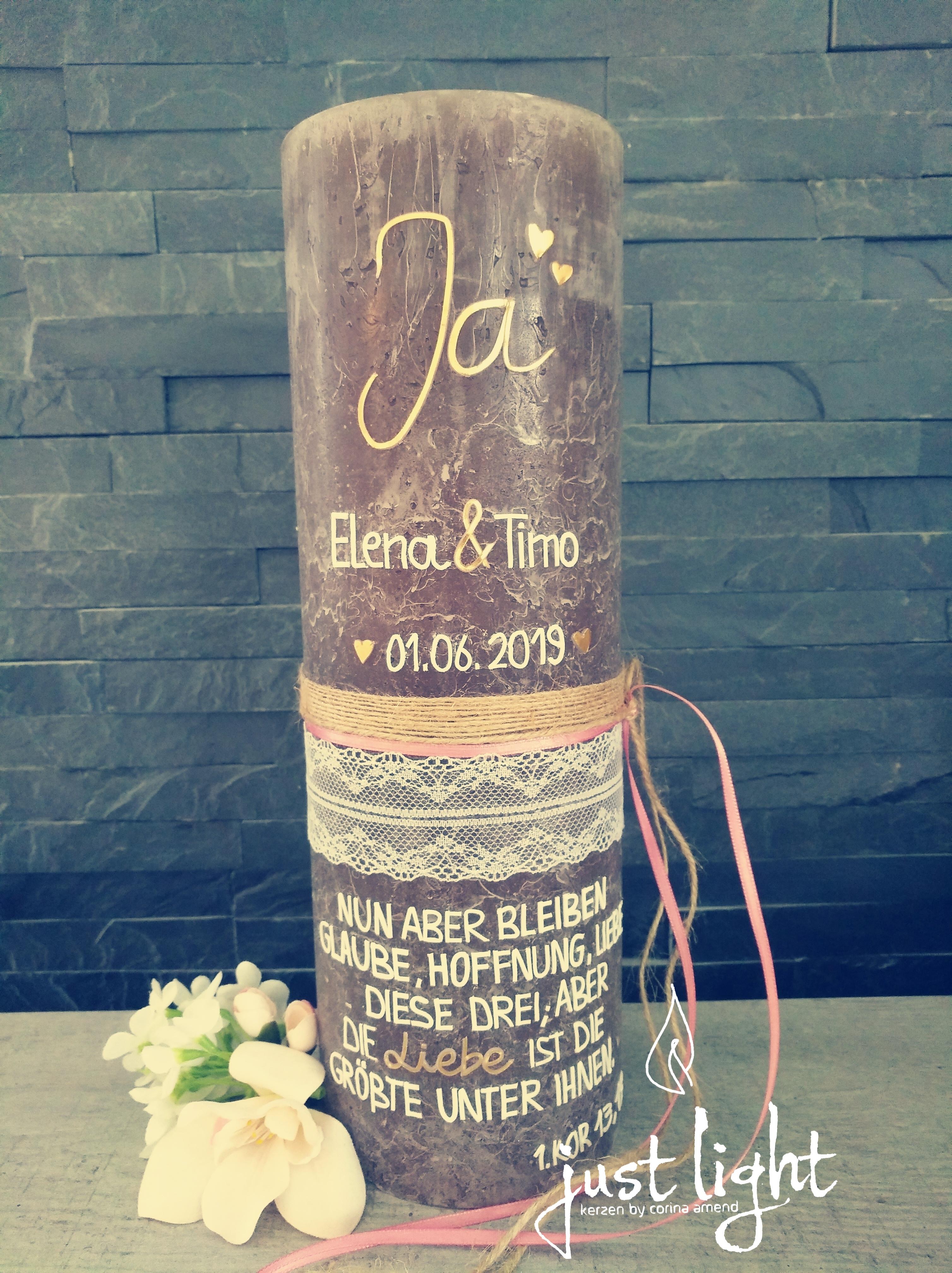 Ja - Hochzeitskerze